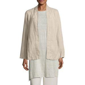 Eileen Fisher Linen Tan Kimono